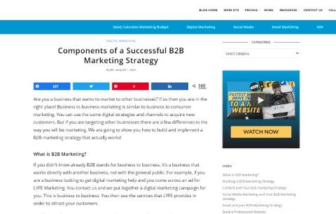 Components of a Successful B2B Marketing Strategy - Digital Marketing Blog