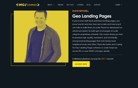 Geo Landing Pages Course