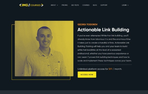 Actionable Link Building Course