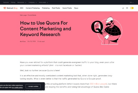 How to Use Quora For Content Marketing and Keyword Research
