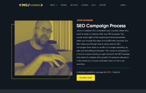 SEO Campaign Process course