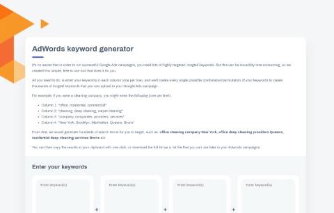 Adwords Keyword generator