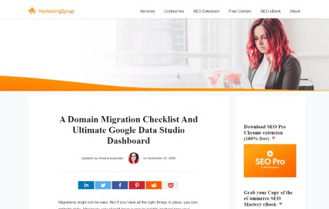 A Domain Migration Checklist And Ultimate Google Data Studio Dashboard