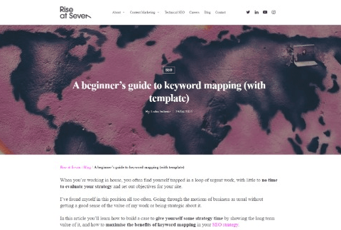 A beginner's guide to keyword mapping (with template)