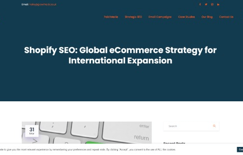 Shopify SEO: Global eCommerce Strategy for International Expansion