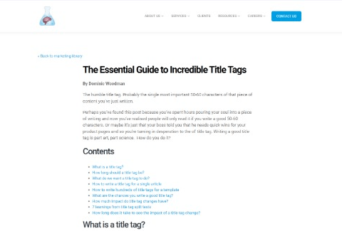The Essential Guide to Incredible Title Tags