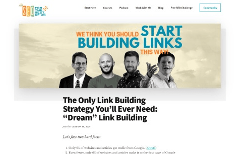"""The Only Link Building Strategy You'll Ever Need: """"Dream"""" Link Building"""