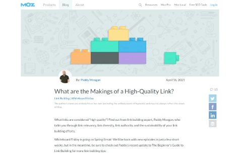 What are the Makings of a High-Quality Link?