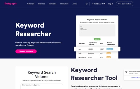 Linkgraph – Keyword Research Tool